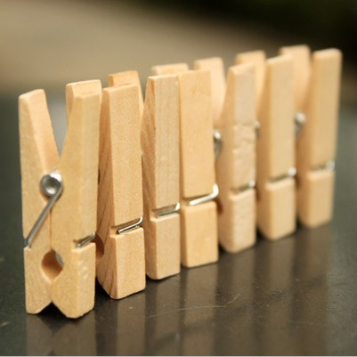 35mm Wooden Pegs Natural Craft Baby Clothes Pin wood photo clips