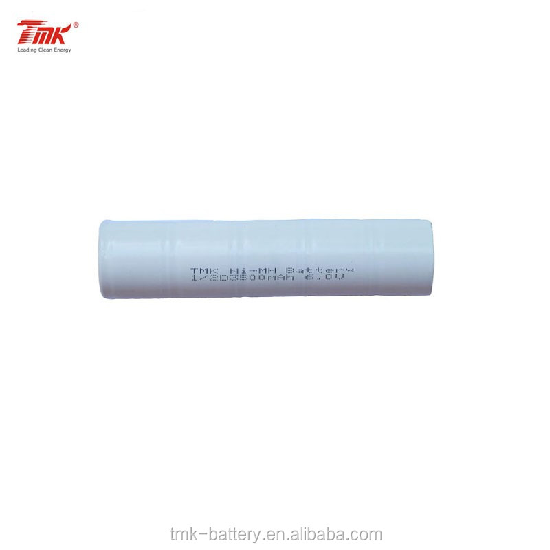TMK 6.0V 1/2D 3500mAh nimh rechargeable stick battery pack for Flashlights and Torches
