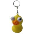 eyes pop out keychain / squeeze pop eye yellow duck keychain