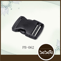 high quality side release metal hook buckle child plastic side release belt buckle double adjust side release buckles