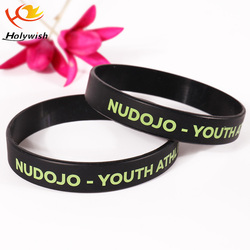 Custom shape teen boy free silicone rubber bracelets for a cause