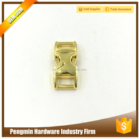 Curved gold plated side release belt buckle lock metal bag buckle
