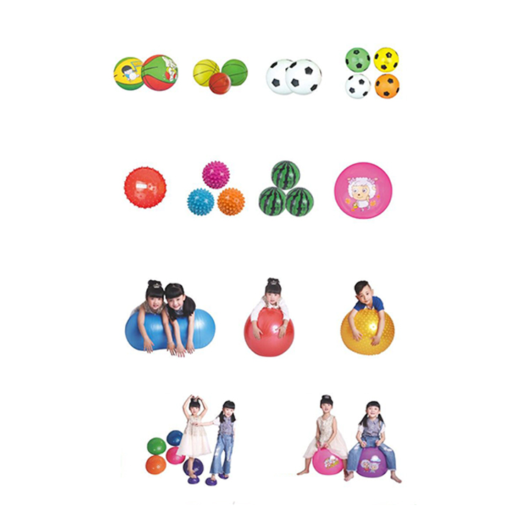 Kinderen multi-functionele gymnastiek PVC fitness massage bal set