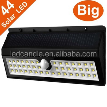 Outdoor Waterproof 44LED Solar Power Automatic Induction Wall Light Garden Lamp
