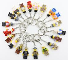 20 Models Building Bricks Promotional Keychain block figure toys