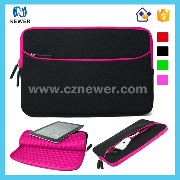 Customized logo design foldable neoprene trolley laptop bag