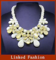 fashion necklace beadwork handmade stone statement necklace