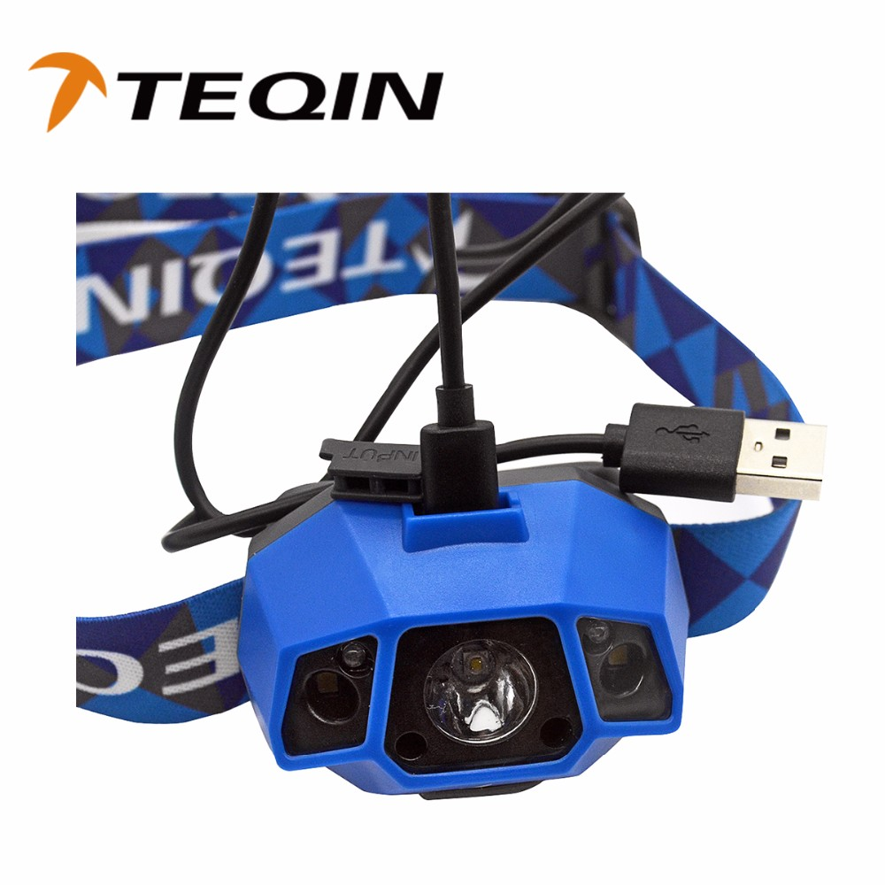 2016 TEQIN waterproof ip65 led rechargeable outdoor headlamps