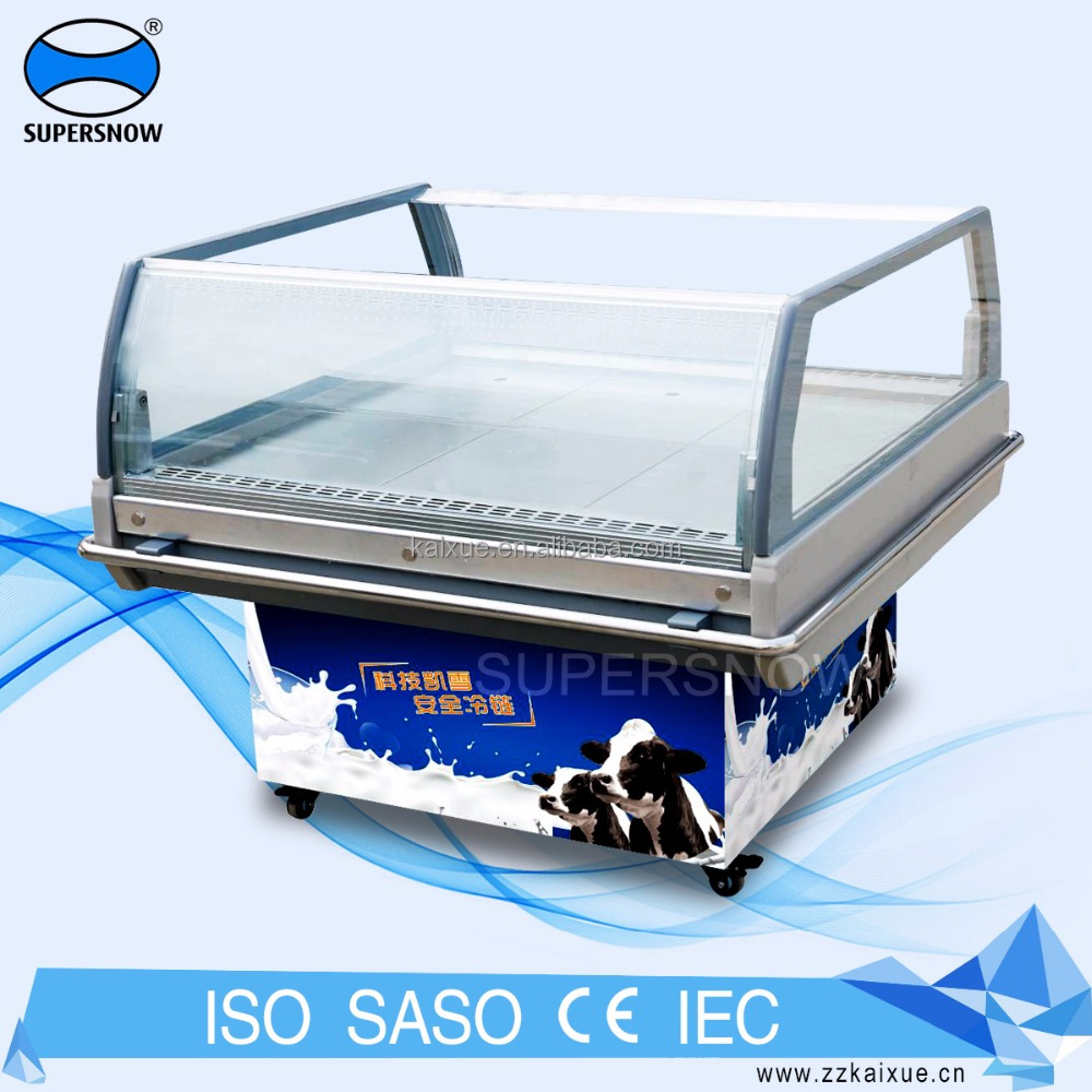 Custom Milk Display Used Small Mini Fridge For Supermarket, Store,Shop