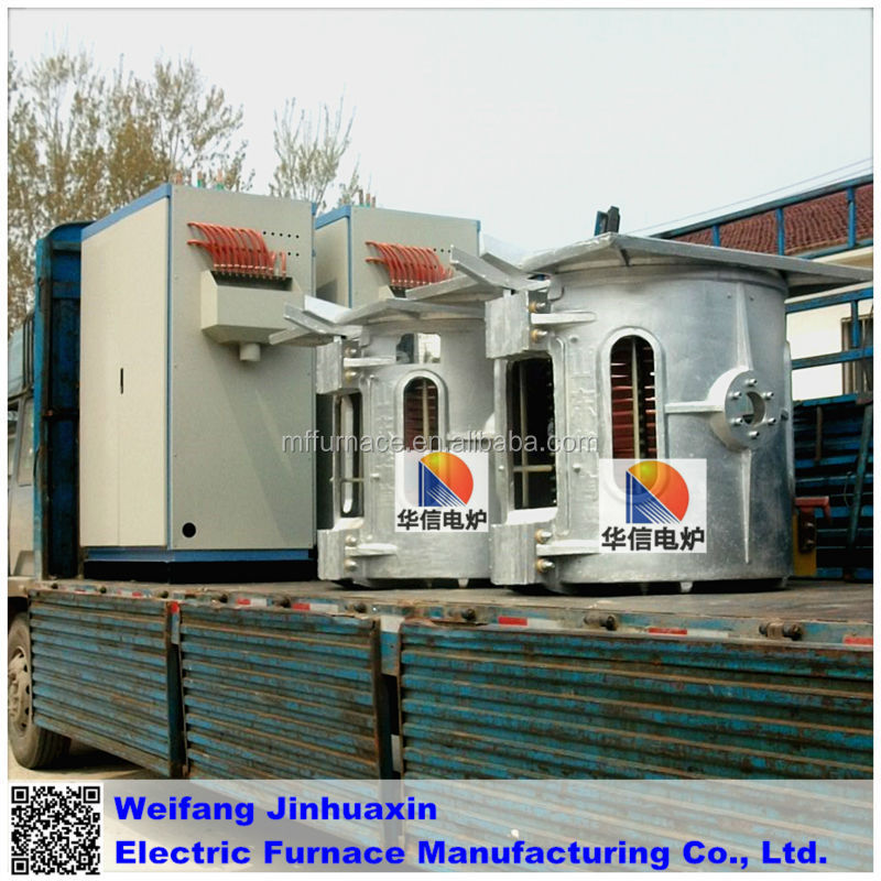 500KG Reduction Gear Melting Iron Induction Furnace