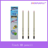 EN71 and ASTM D4236 certificate 7 inch triangle shape wooden drawing HB pencil with top eraser