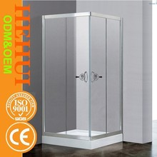 HZ-6828 Aluminum alloy design dual sliding corner entry shower room