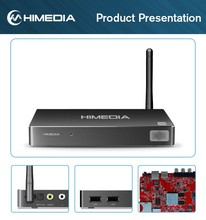 Newest factory price HIMEDIA H8 Android 5.1 tv box octa core Full HD 1080p 64 bit 4K UHD 3D OTA android stick box on promotion