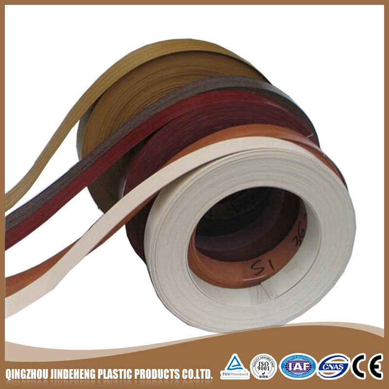 customised China personalized pre-glued wood grain Pvc edge banding tape