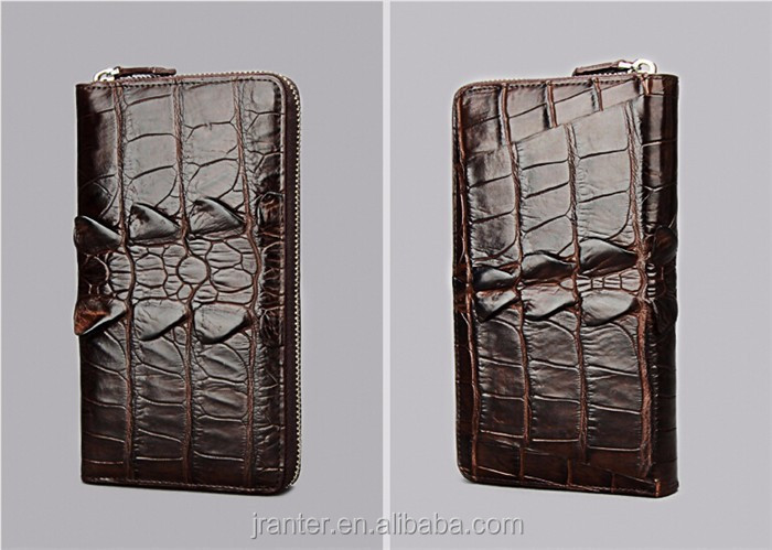 Fashion Luxury Handmade Men Business Wallet Real Crocodile leather Clutch Wallet Men_9