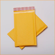 Manufacturer printing gold kraft bubble envelope padded courier mailer