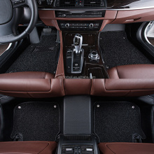 Unique 6d leather car mat with PVC coil