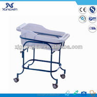 Epoxy painted hospital newborn cot/cradle