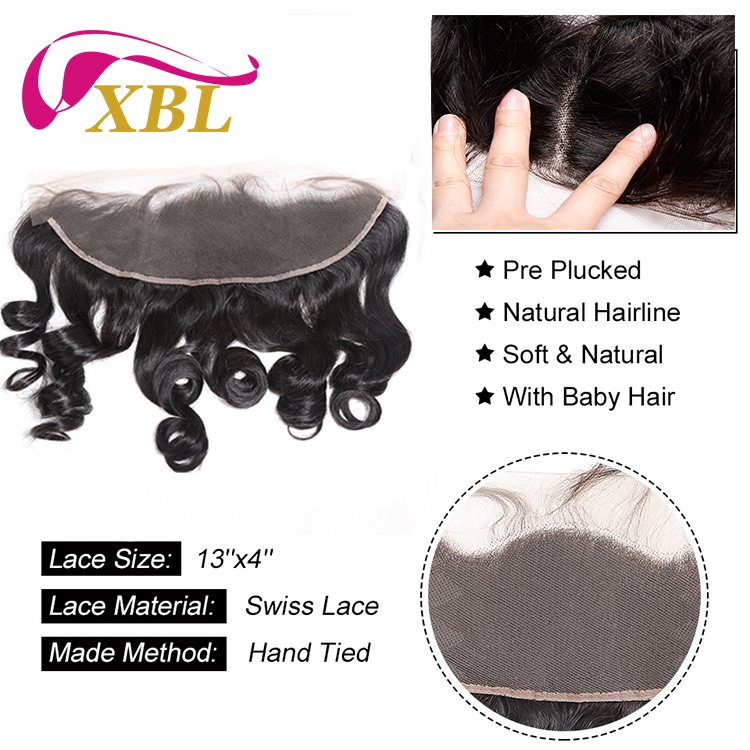 XBL loose wave virgin cuticle aligned human hair extension, 2/3pcs hair bundles with closure/ frontal