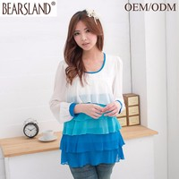 eco-friend material fashion ladies designer blouses photo