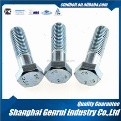 carbon steel zinc plating grade 4.6 hex bolt
