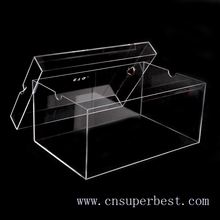 Popular customized clear acrylic shoe box