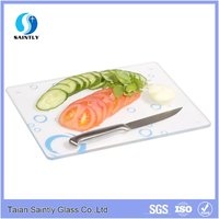 4mm 5mm custom made tempered glass cutting board