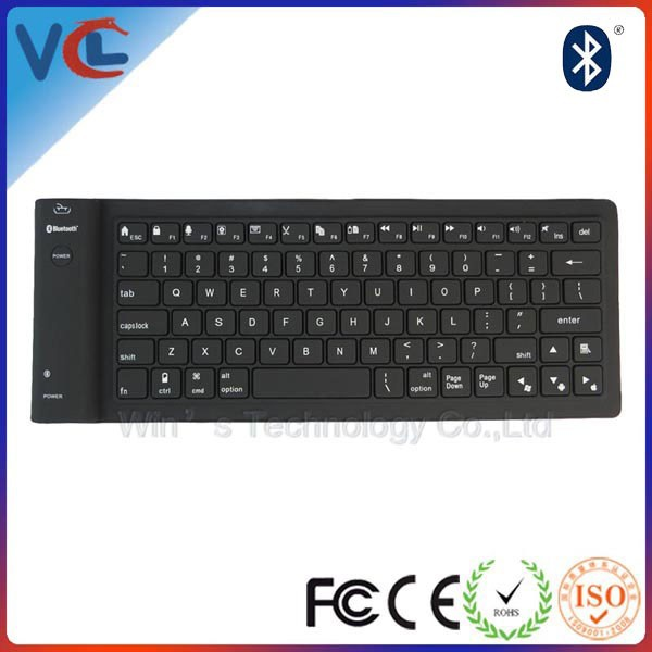 wireless flexible mini bluetooth keyboard for ipad