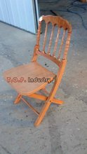 Old Style Beech Wood Folding Napoleon Chair