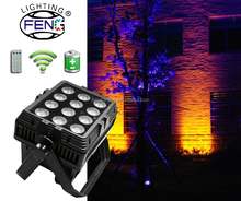 12pcs RGBWA+UV 6IN1 IP65 Outdoor Waterproof Par Can LED Mini Party Lights Portable Laser Projector Sound Systems Equipment