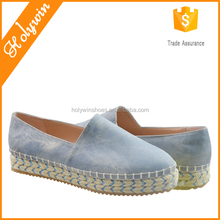 Wholesale High quality casual style canvas espadrille shoes,zapatillas