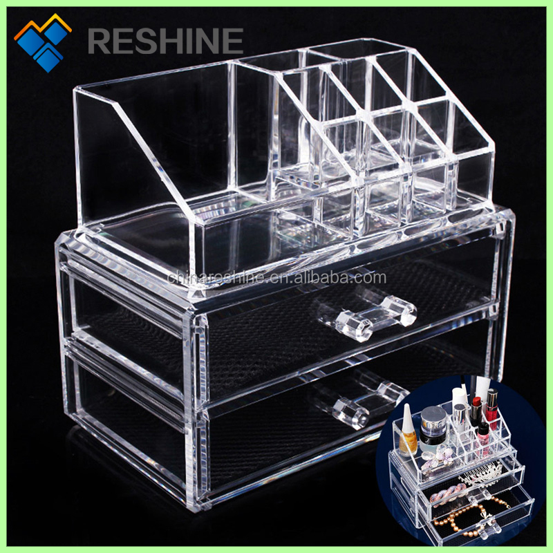 Cosmetic Makeup Storage Drawers Case Acrylic Makeup Organizer rangement maquillage acrylic makeup organizer