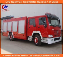 howo firetruck 6wheel fire fighting engine 4*2 fire truck used 6000L fire truck sprinkler truck