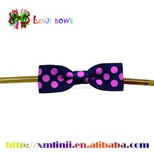 dot grosgrain bow tie with metal wire twist tie for food plastic bag
