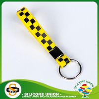 anti-dust silicone pvc keyring advertising silicone keychain customized