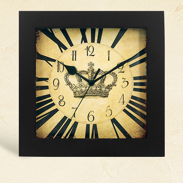 Royal Japanese Silent Movement Retro Square Wall Clock