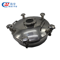 Sanitary grade tank manway stainless steel elliptic manhole cover with sight glass