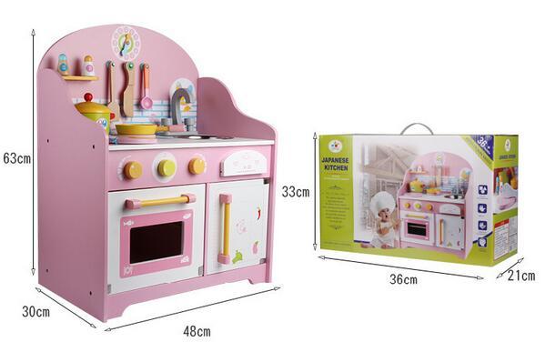 Japanese Wooden Pretend Play Kitchen Home Cooking Table Set Children Kitchen  Play Set
