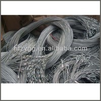 stainless steel wire rope sling, galvanzied steel cable rigging
