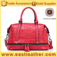 GL753 2016 new arrival elegant woman tote crocodile leather handbags