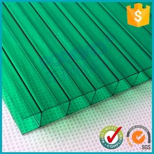 anti-fog 6mm thickness rectangle structure pc polycarbonate hollow sheet