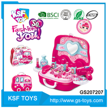 hot selling 2017 dresser fashion makeup beauty play set toys for girl for sale