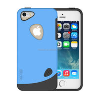 2015 Hot Selling Fashionable blue TPU PC Mobile Phone Case for iphone 5