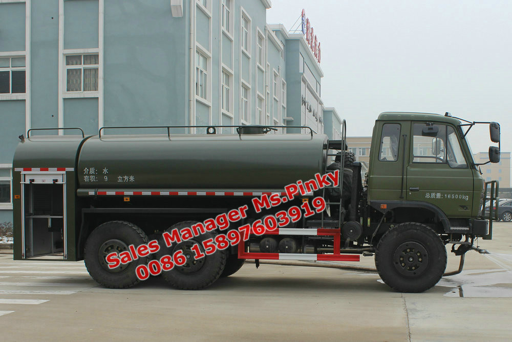 Military Armored Water Tender Fire Truck 9000Liters Fire Engine For Sales