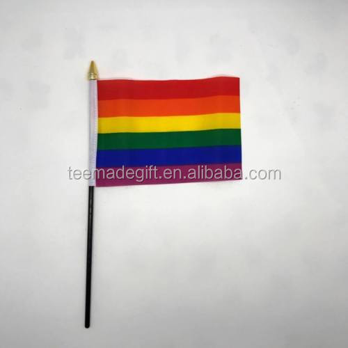 Manufacturer LGBT Flag Custom Mini Rainbow Hand Flag