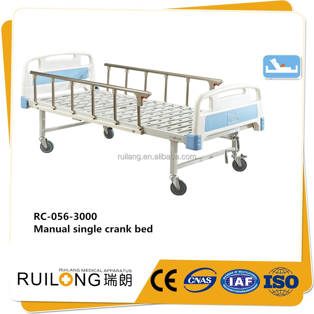 ABS hospital bed care manual crank patient bed king size for clinic