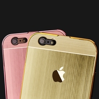 For iPhone 5 5s case ,Ultra-thin Aluminum Metal Bumper Brushed Back Case Cover,case for iphone 5 5a