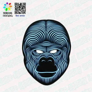 2018 Sound Activated Halloween EL Mask Halloween Party Mask The Sound Reactive Led Mask