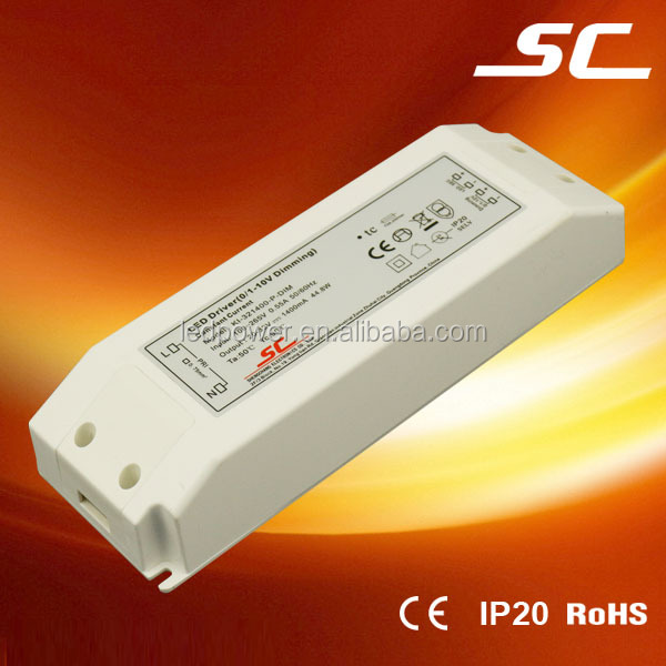 45w 1400ma 0-10V dimming constant current led dimmable driver 20v to 32v
