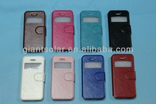 Crystal pattern suport leather case for iphone5C